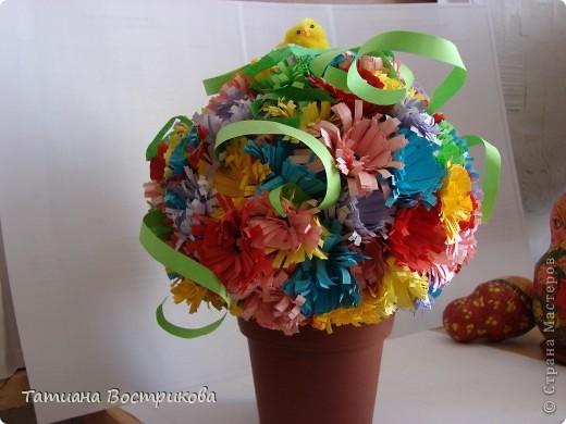 Цветочное дерево, делали с дочкой.  фото 2