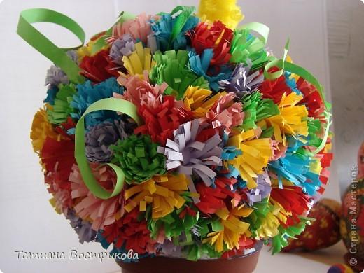 Цветочное дерево, делали с дочкой.  фото 1