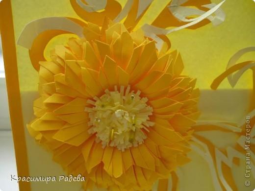 Добра вечер на всички в Страната на Майсторите отново!!! Ето  последните ми две картички.Идеята за цветето на жълтата картичка съм я взела от Корейски сайт.Приятно разглеждане. фото 5