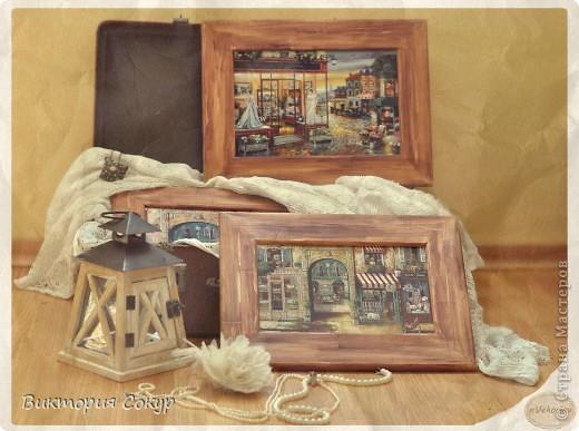 Картины были сделаны на заказ. В работах применялись распечатки. Рамки тонировала сама. фото 1