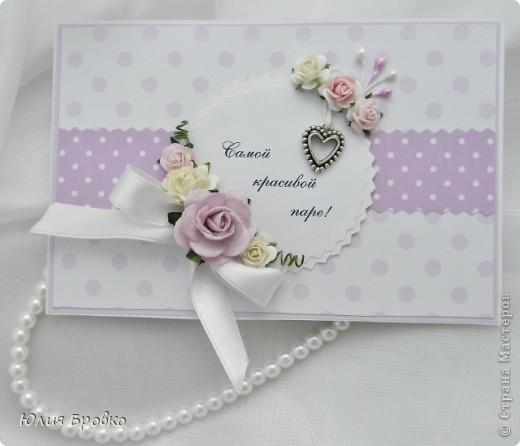 Приветик, у меня очередная неженка, снова летняя и снова свадебная )) Это собственно открытка для той самой подружки, с которой делали прошлые синие яркие приглашения! фото 2