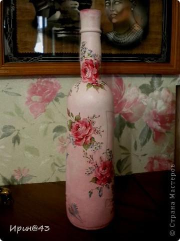 Очень многим известная бутылка.Идею увидела у подруги,остальное придумала сама. фото 2