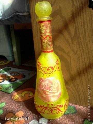 Вот она, моя работа :) Для декорирования этого кувшина мне понадобилось: -кувшин -салфетки -витражные контуры -клей ПВА -акриловая краска -и немного терпения :) фото 16
