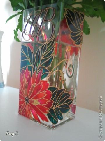 """ваза""""Хризантемы"""" фото 3"""