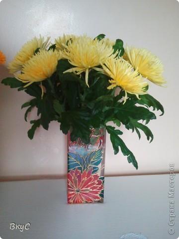 """ваза""""Хризантемы"""" фото 2"""