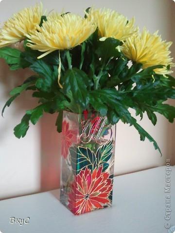 """ваза""""Хризантемы"""" фото 1"""