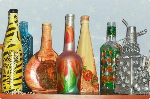 Эти бутылочки оформлялись еще зимой-весной, а вот показать решила сейчас... фото 1