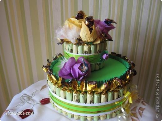 Зеленый тортик