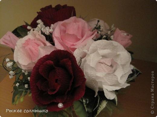 Сладкая корзинка из 9 роз фото 2