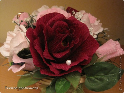 Сладкая корзинка из 9 роз фото 5