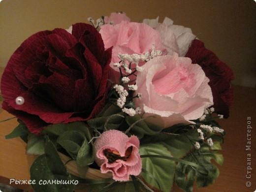 Сладкая корзинка из 9 роз фото 6