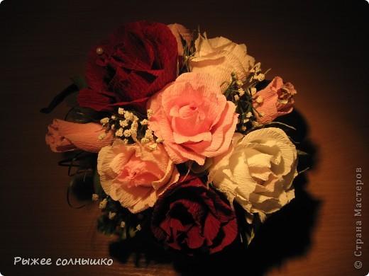 Сладкая корзинка из 9 роз фото 1