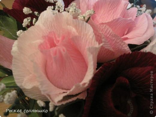 Сладкая корзинка из 9 роз фото 8