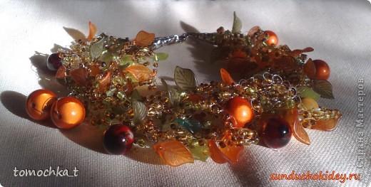"""Ожерелье """"Афродита"""". В изготовлении использовались прессованные ракушки, бисер, стеклянные бусины, фурнитура. Изготовлено на заказ. фото 2"""