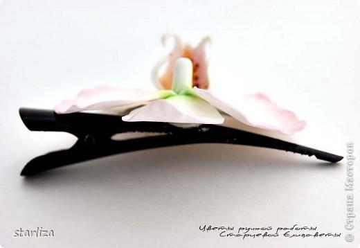 Продолжается неравный бой с орхидеей фаленопсис, чувствую улучшения))))  Вот такой вот зажимчик получился (7.5 см) фото 4