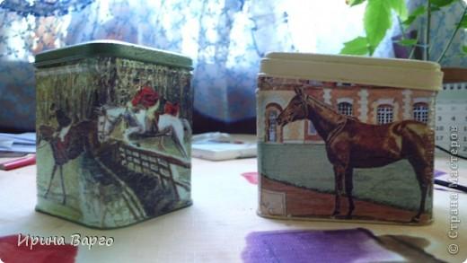"""Банка """"Овощи"""". Картонная коробка из-под бутылки, одношаговый кракелюр, салфетка, клей для декупажа """"Таир"""". фото 4"""