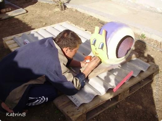 Такое чудо делали с мужем для дочери в садик,как украшение участка для их группы! фото 5