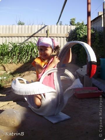 Такое чудо делали с мужем для дочери в садик,как украшение участка для их группы! фото 2