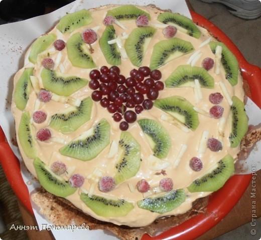 Вот и опять праздник - Кожаная свадьба, и опять я состряпала тортик! Вышло 3 кг! фото 1