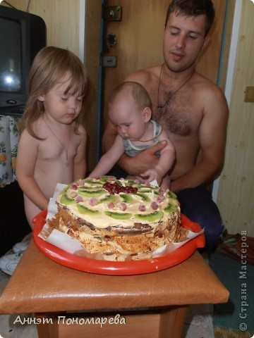 Вот и опять праздник - Кожаная свадьба, и опять я состряпала тортик! Вышло 3 кг! фото 2
