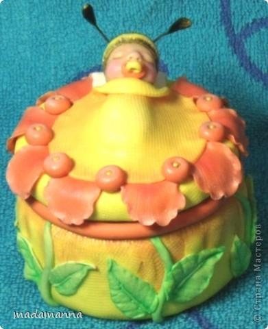 Декор предметов Лепка Дефиле младенцев Банки стеклянные Фарфор холодный фото 5