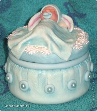 Декор предметов Лепка Дефиле младенцев Банки стеклянные Фарфор холодный фото 11