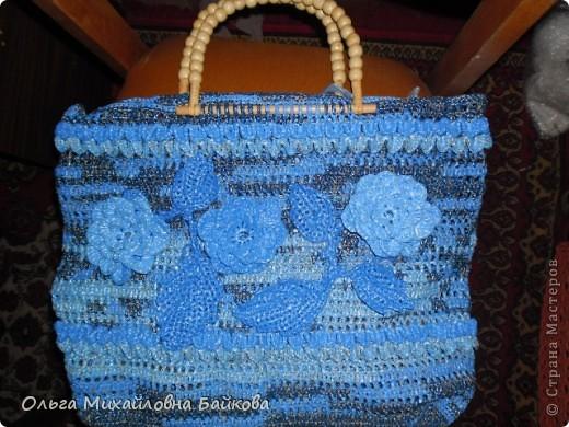 Связала для сестры пляжную сумку 50*50см.Это просто пробное украшение. фото 2