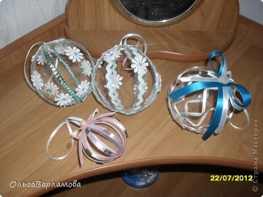 Вот такие у меня получились шары из пластиковых бутылок фото 2