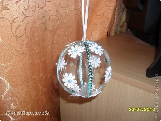 Вот такие у меня получились шары из пластиковых бутылок фото 3