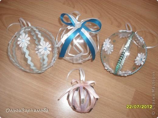Вот такие у меня получились шары из пластиковых бутылок фото 1