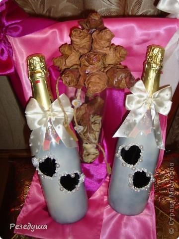 Украшение бокалов и шампанского (Первая работа не судите строго) фото 2