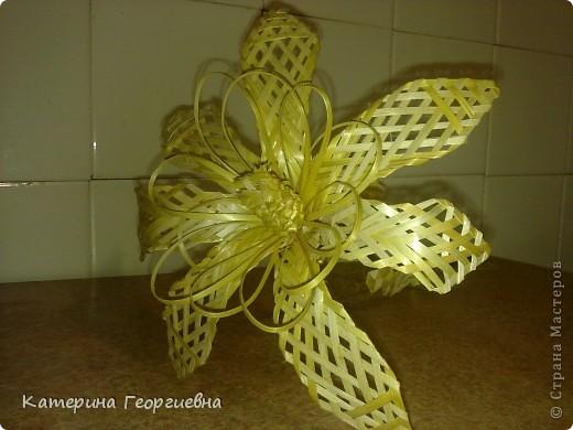 Идея цветка родилась в холодный зимний вечер,тогда-то я и решила принести рукотворный лучик солнца в мою квартиру!Такой цветок никогда не завянет! фото 1