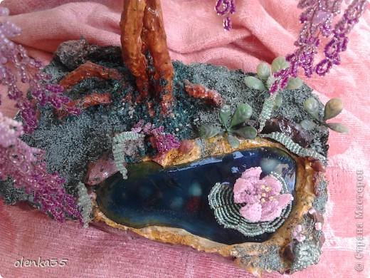 Поделка изделие Бисероплетение Глициния-дерево из бисера Бисер фото 2.