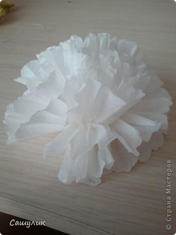 Вот такой топиарий у меня получился из бумажных цветочков.  фото 9