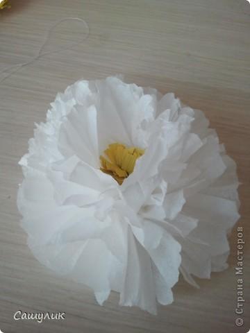 Вот такой топиарий у меня получился из бумажных цветочков.  фото 10
