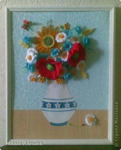 На память о чудесной летней поре захотелось сделать свой вариант букетика полевых цветов.  фото 1