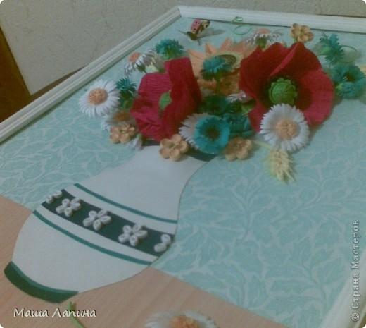 На память о чудесной летней поре захотелось сделать свой вариант букетика полевых цветов.  фото 2