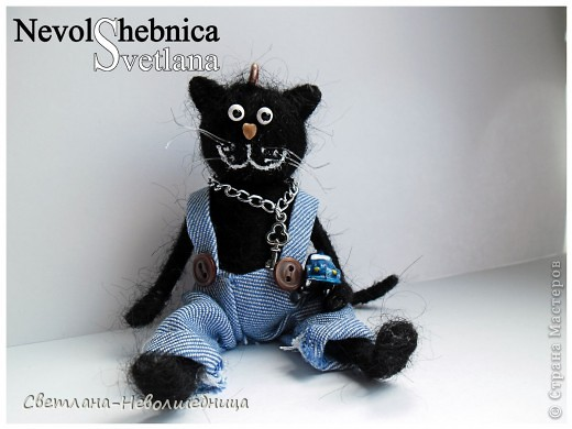 И снова котик))) и снова черный))) Только теперь он модный пацан с зачетной игрушкой в виде машинки) фото 2