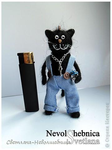 И снова котик))) и снова черный))) Только теперь он модный пацан с зачетной игрушкой в виде машинки) фото 3
