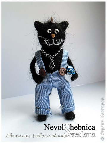 И снова котик))) и снова черный))) Только теперь он модный пацан с зачетной игрушкой в виде машинки) фото 4