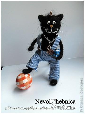 И снова котик))) и снова черный))) Только теперь он модный пацан с зачетной игрушкой в виде машинки) фото 6