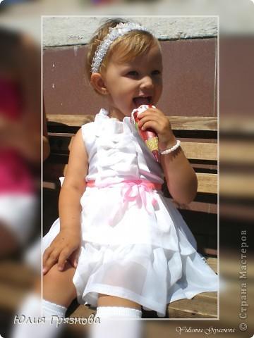 Панамка и платье для летних прогулок принцессы! Увидела эту ткань и не смогла пройти мимо, не купив ее, так она мне понравилась своей нежностью! фото 7
