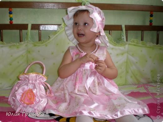 Панамка и платье для летних прогулок принцессы! Увидела эту ткань и не смогла пройти мимо, не купив ее, так она мне понравилась своей нежностью! фото 1