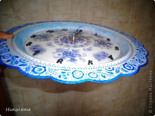 очень мне нравились часы на сковородке, которые делают наши мастера, вот получились такие кофейные часики и к ним деревце фото 5