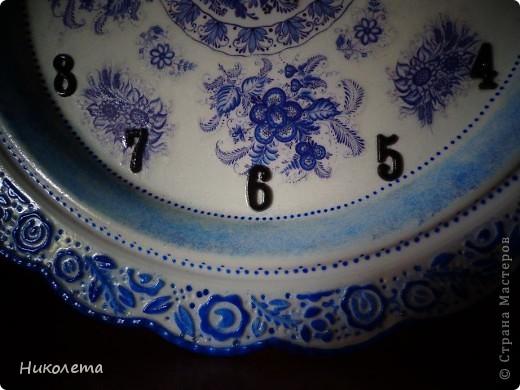 очень мне нравились часы на сковородке, которые делают наши мастера, вот получились такие кофейные часики и к ним деревце фото 4