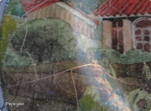 Здравствуй СМ!!! Собрались разноплановые работы.... эти сюжеты на  тарелочках диаметром 28 см, декупажные карты, кракелюр парой  Маймери 687-688, трещины крупные фото 4