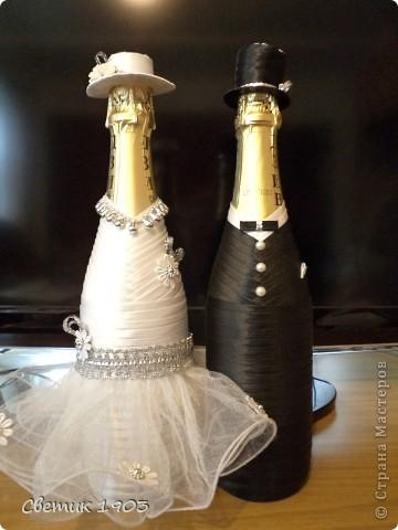 Свадебный сезон в разгаре, только успевай... Выставляю на Ваш суд свои поделочки свадебные. фото 1