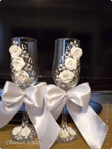Свадебный сезон в разгаре, только успевай... Выставляю на Ваш суд свои поделочки свадебные. фото 5