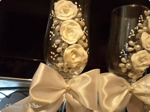Свадебный сезон в разгаре, только успевай... Выставляю на Ваш суд свои поделочки свадебные. фото 6