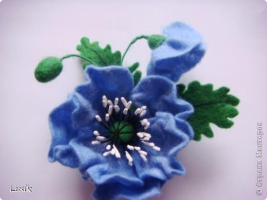 Первые мои валяные цветочки, немного смешные и совсем простенькие. фото 10
